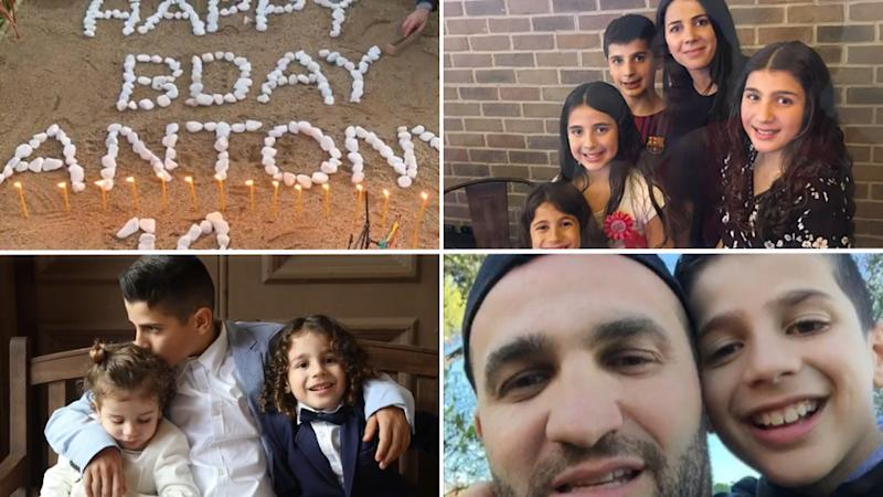 Scenes from the birthday video Mrs Abdallah posted for her late son's 14th birthday.