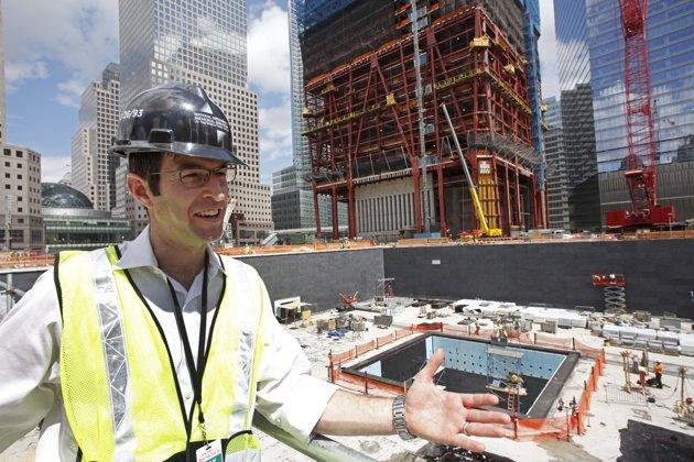 Michael Arad at the National September 11 Memorial site, Friday, July 9, 2010. (AP Photo/Mark Lennihan)