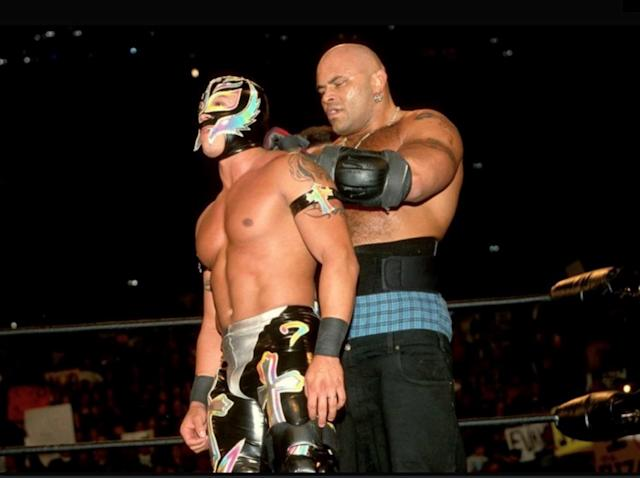Konnan and Rey Mysterio in WCW. | Courtesy of WWE