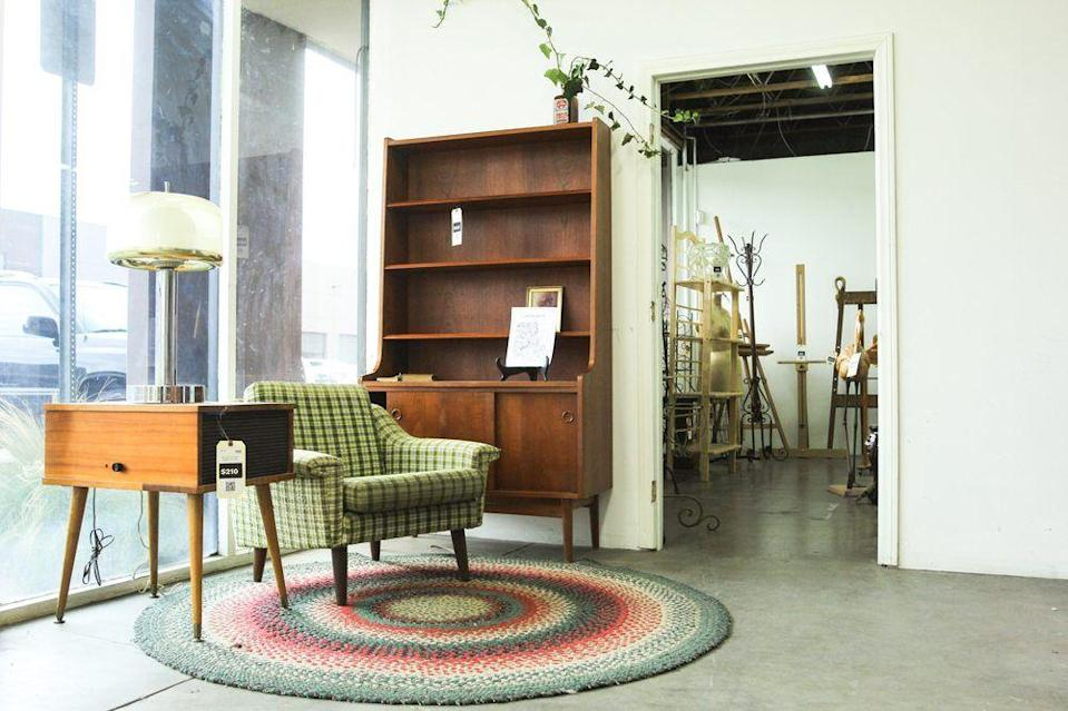 """<p>""""This place is a large warehouse full of vintage furniture of all types, with most of it in pretty good shape. You're almost sure to find something you want to buy here. The prices are incredibly fair, with some downright bargains. Some of the pieces are bizarrely entertaining just to look at,"""" <a href=""""https://www.yelp.com/biz/loveseat-vintage-furniture-los-angeles-los-angeles-4"""" rel=""""nofollow noopener"""" target=""""_blank"""" data-ylk=""""slk:Paul S"""" class=""""link rapid-noclick-resp"""">Paul S</a>.</p><p><strong>Visit the store</strong>: 2445 East 12th St, Unit C, Los Angeles, CA</p>"""