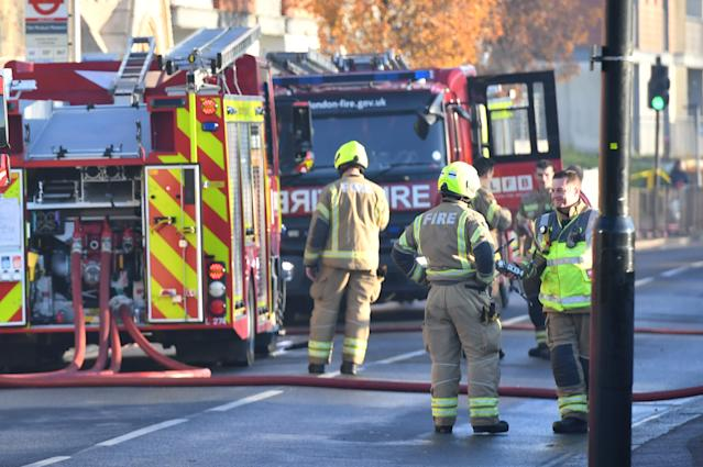Around 100 firefighters attended the incident in west London (Picture: Getty)