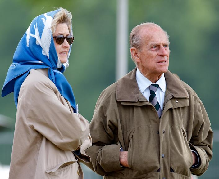 WINDSOR, UNITED KINGDOM - MAY 12: (EMBARGOED FOR PUBLICATION IN UK NEWSPAPERS UNTIL 24 HOURS AFTER CREATE DATE AND TIME) Penelope Knatchbull, Lady Brabourne and Prince Philip, Duke of Edinburgh attend day 3 of the Royal Windsor Horse Show in Home Park on May 12, 2007 in Windsor, England. (Photo by Max Mumby/Indigo/Getty Images)