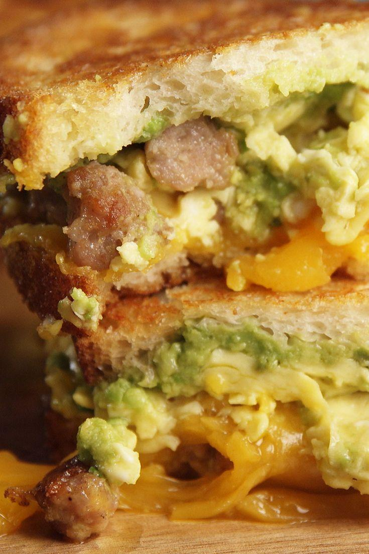 <p>A massive upgrade to the Egg McMuffin.</p><p>Get the recipe from <span>Delish</span>.</p>