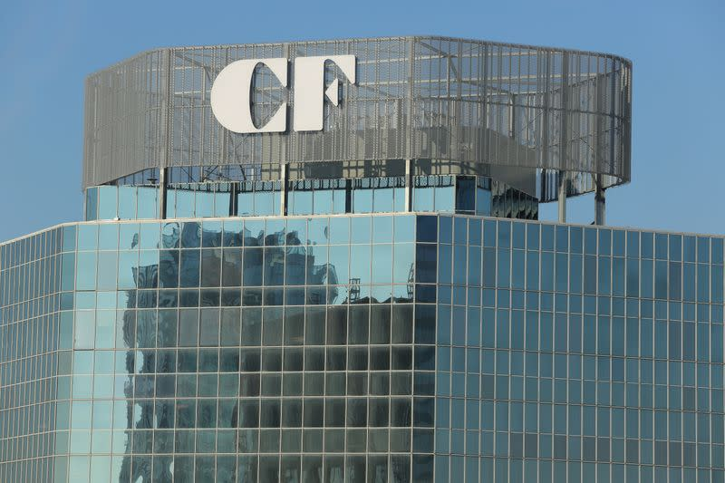 FILE PHOTO: The logo of Cadillac Fairview property management company is seen above their headquarters in Toronto