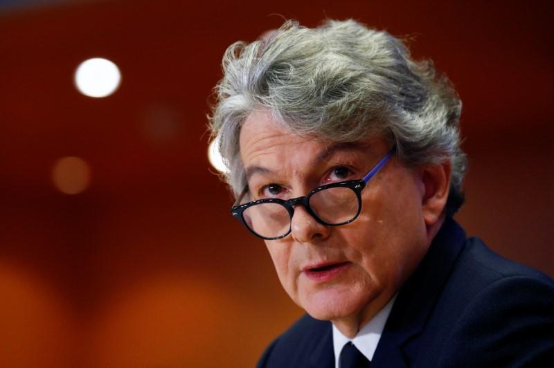 FILE PHOTO: Thierry Breton attends his hearing before the European Parliament in Brussels