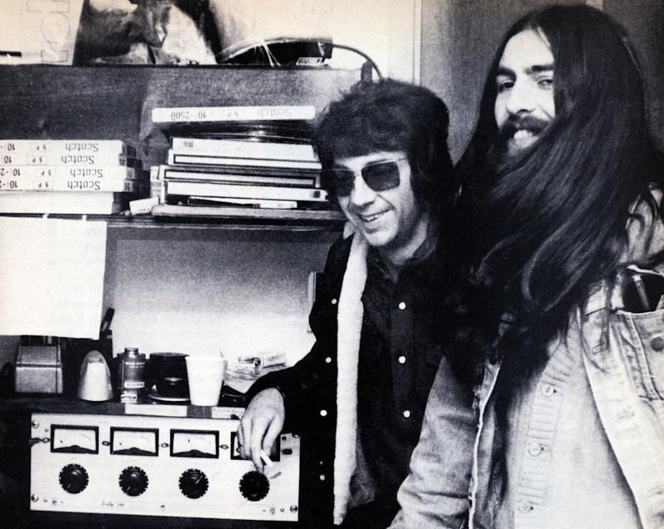 Phil Spector, left, with George Harrison, an ardent admirer of this work, in the late 60s.