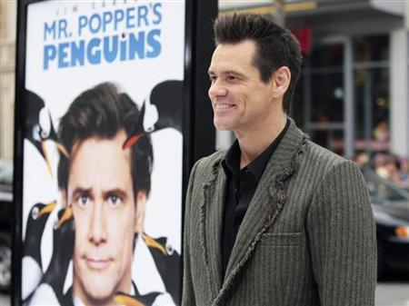 "Actor Jim Carrey arrives for the premiere of the film ""Mr. Popper's Penguins"" in Hollywood"