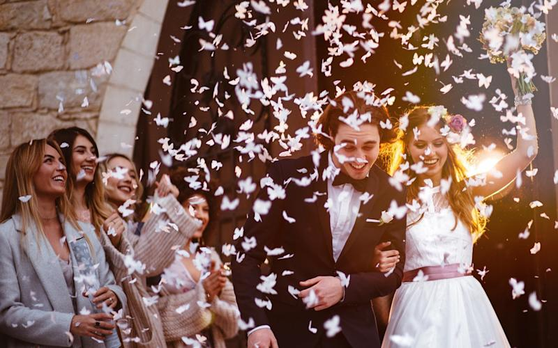 For newly married couples, the celebrations tend to kick off as soon as they say 'I do' - E+