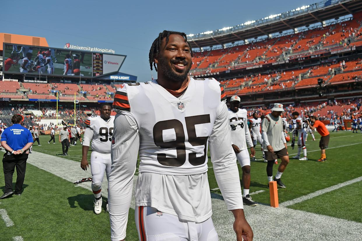 Myles Garrett is ready to show the NFL that he can be the LeBron James of defense. (Photo by Jason Miller/Getty Images)