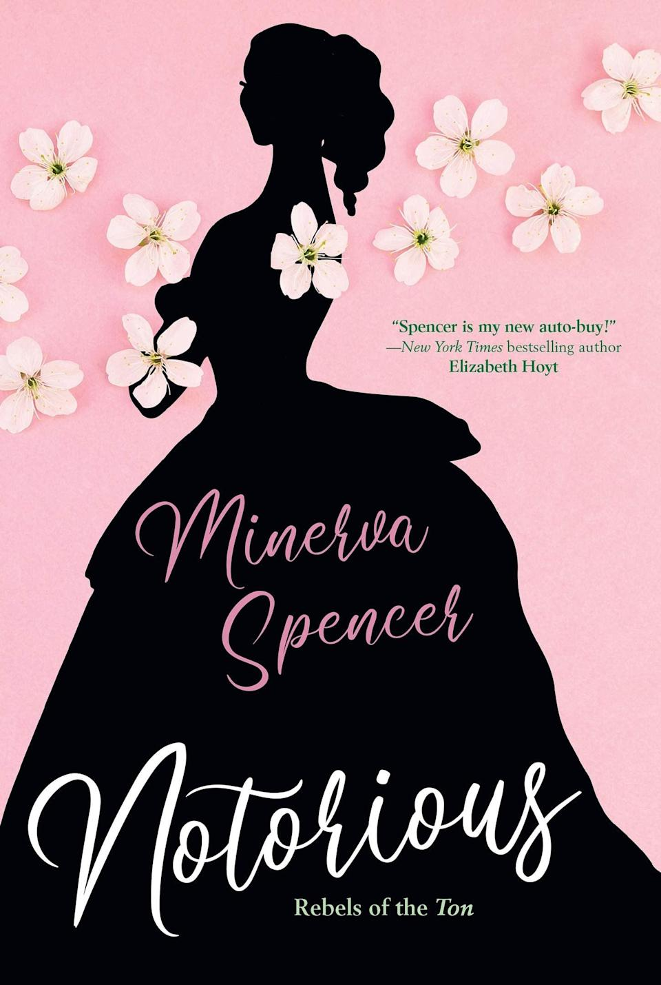 <p>There's nothing convenient about the marriage between Drusilla Clare, a headstrong young woman who never wanted to marry, and Gabriel, a rake who only proposes out of obligation. But thanks to Minerva Spencer's sparkling dialogue and ability to ramp up the sexual tension, the unconventional couple at the heart of <span><strong>Notorious</strong></span> is impossible not to love. </p> <p><em>Out Nov. 24</em></p>