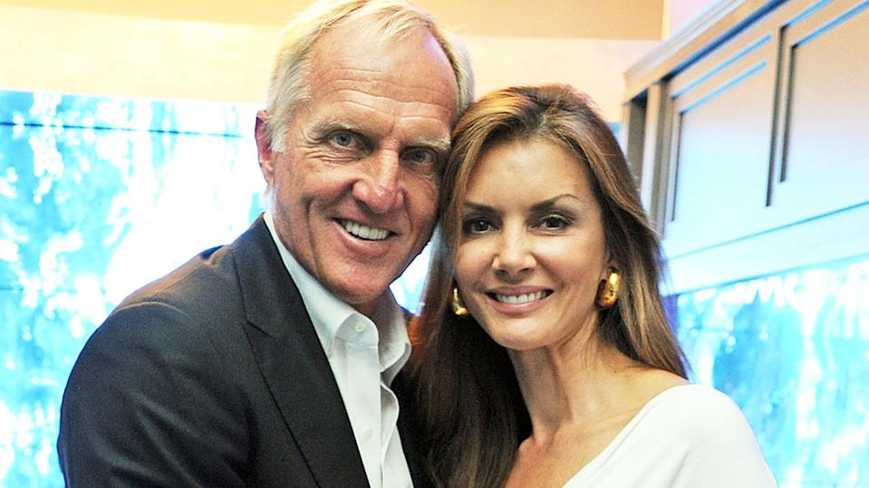 Greg Norman and wife Kirsten Kutner, pictured here during the London 2012 Olympic Games.