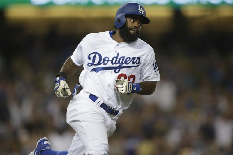 Dodgers centerfielder Andrew Toles runs the bases in the third inning againt the Padres on July 8.