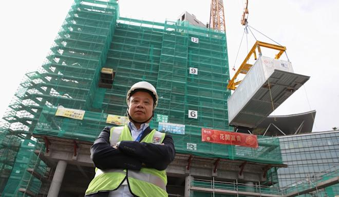 Simon Wong Yuk-sun, chief project development officer at Science Park, sees the new prefabricated units as a way of attracting international tech talent who would work nearby. Photo: Winson Wong