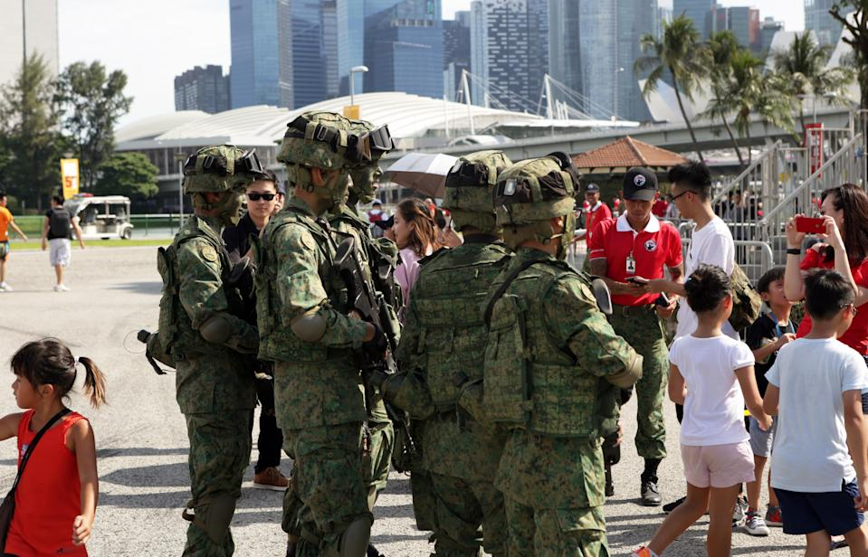 Singapore Armed Forces (SAF) personnel. (Yahoo News Singapore file photo)