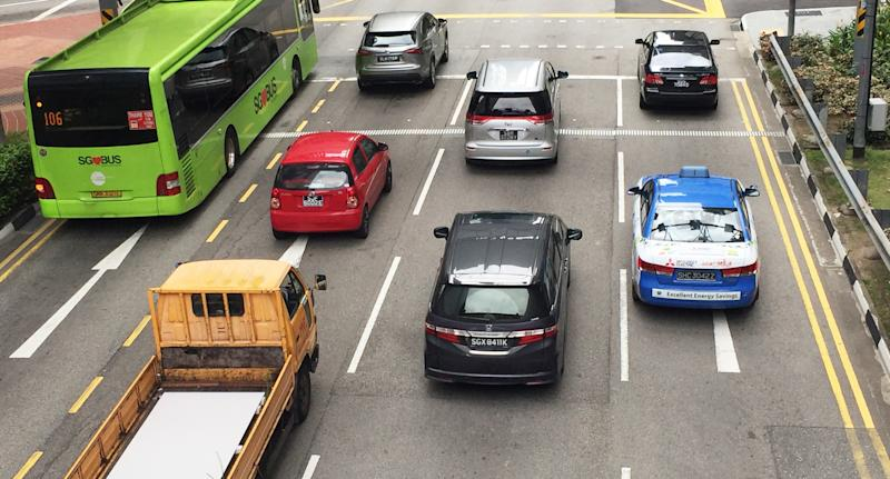File photo of cars in Tanjong Pagar in Singapore. COE: 6 July 2018 (PHOTO: Abdul Rahman Azhari/Yahoo News Singapore)