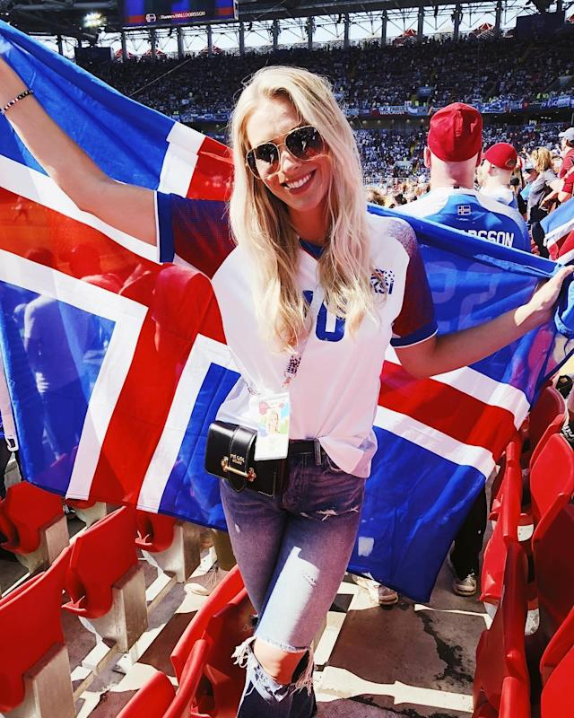 <p>Alexandra Helga, girlfriend of Iceland's Gylfi Sigurdsson </p>
