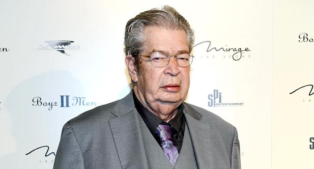 "Richard ""the Old Man"" Harrison from History's <em>Pawn Stars</em> arrives at the opening of the Boyz II Men residency at the Mirage Hotel & Casino in March 2013 in Las Vegas. (Photo: Denise Truscello/WireImage)"