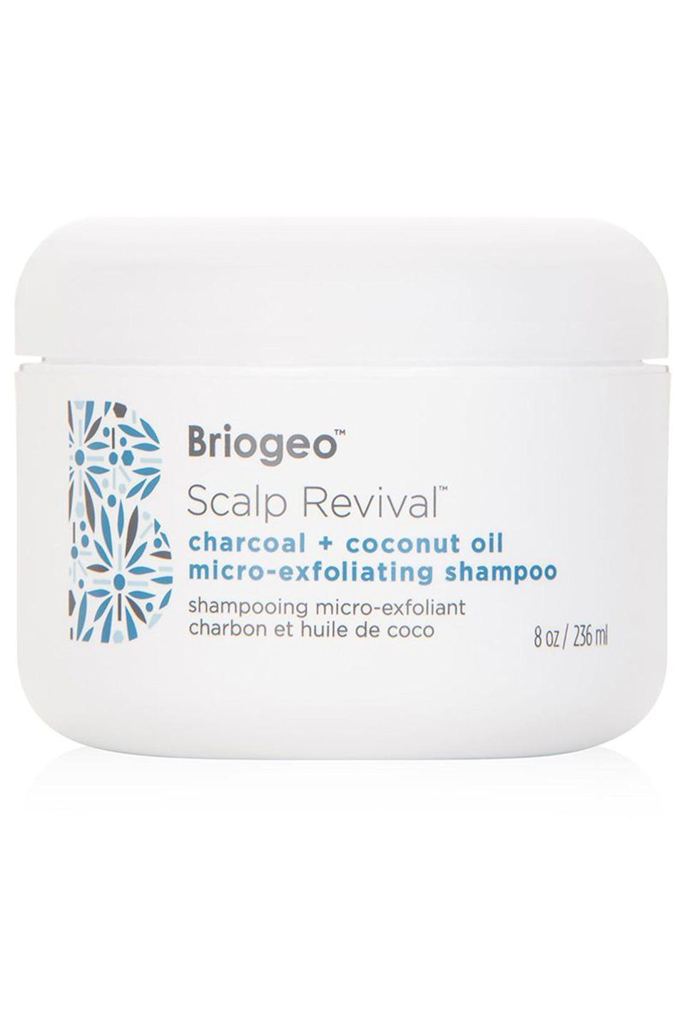 """<p><strong>Briogeo</strong></p><p>dermstore.com</p><p><strong>$42.00</strong></p><p><a href=""""https://go.redirectingat.com?id=74968X1596630&url=https%3A%2F%2Fwww.dermstore.com%2Fproduct_Scalp%2BRevival%2BCharcoal%2BCoconut%2BOil%2BMicroExfoliating%2BShampoo_71266.htm&sref=https%3A%2F%2Fwww.cosmopolitan.com%2Fstyle-beauty%2Fbeauty%2Fg26114920%2Fbest-scalp-scrubs%2F"""" rel=""""nofollow noopener"""" target=""""_blank"""" data-ylk=""""slk:Shop Now"""" class=""""link rapid-noclick-resp"""">Shop Now</a></p><p>A scalp scrub with hydrating oils is a major key if you have <a href=""""https://www.cosmopolitan.com/style-beauty/beauty/a29873251/how-to-fix-dry-hair-tips/"""" rel=""""nofollow noopener"""" target=""""_blank"""" data-ylk=""""slk:dry hair"""" class=""""link rapid-noclick-resp"""">dry hair</a>, otherwise you risk making the dryness even worse. This one from Briogeo is<strong> formulated with coconut oil to increase moisture levels,</strong> along with micro-exfoliators that work to gently remove flakes.<br></p>"""