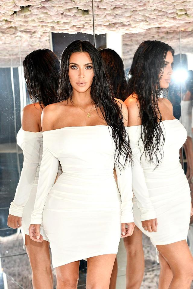 "<p>Among her many other projects, Kardashian is now selling beauty products. She snapped some sick selfies and rubbed elbows with a bunch of women <a href=""https://www.yahoo.com/celebrity/women-kim-kardashians-kkw-beauty-launch-party-looked-just-like-163759350.html"" data-ylk=""slk:who looked strikingly like her;outcm:mb_qualified_link;_E:mb_qualified_link"" class=""link rapid-noclick-resp newsroom-embed-article"">who looked strikingly like her</a> at a party she hosted at her Bel Air mansion to celebrate the launch of her KKW Beauty line. (Photo: Stefanie Keenan/Getty Images) </p>"
