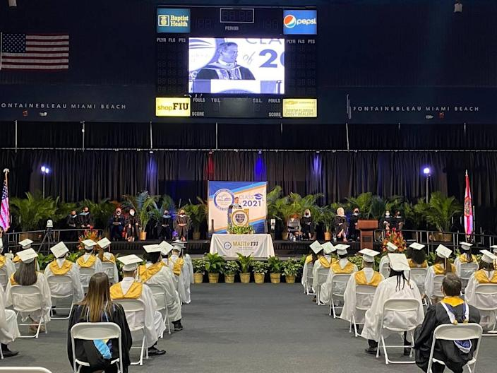 MAST @ FIU Biscayne Bay Campus celebrates its 97 graduates at an in-person graduation commencement on Tuesday, June 1, 2021, at Ocean Bank Convocation Center at FIU.