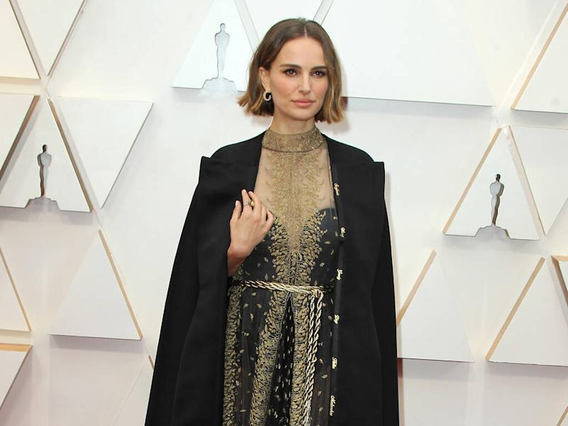 Natalie Portman honours snubbed female directors in Dior cape at 2020 Oscars