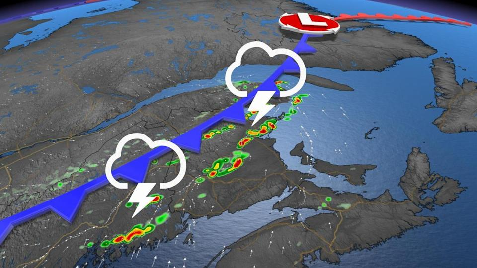 Conducive setup for severe storms in parts of Atlantic Canada