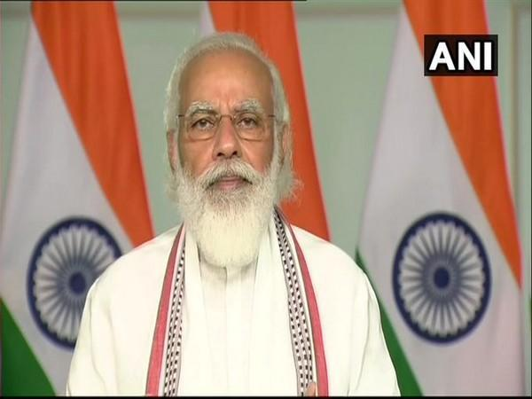 Prime Minister Narendra Modi speaking at the conference on Tuesday. Photo/ANI