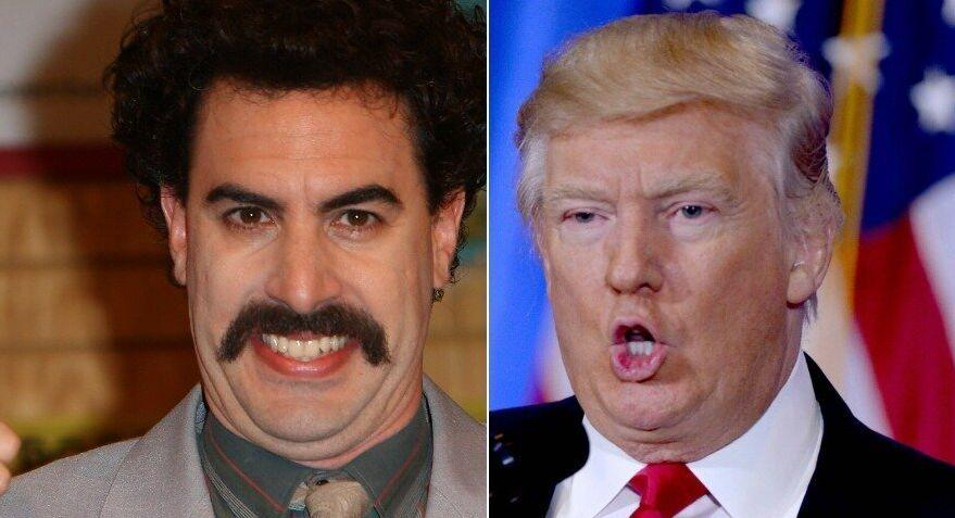 Borat and Donald Trump (Photo: Getty)