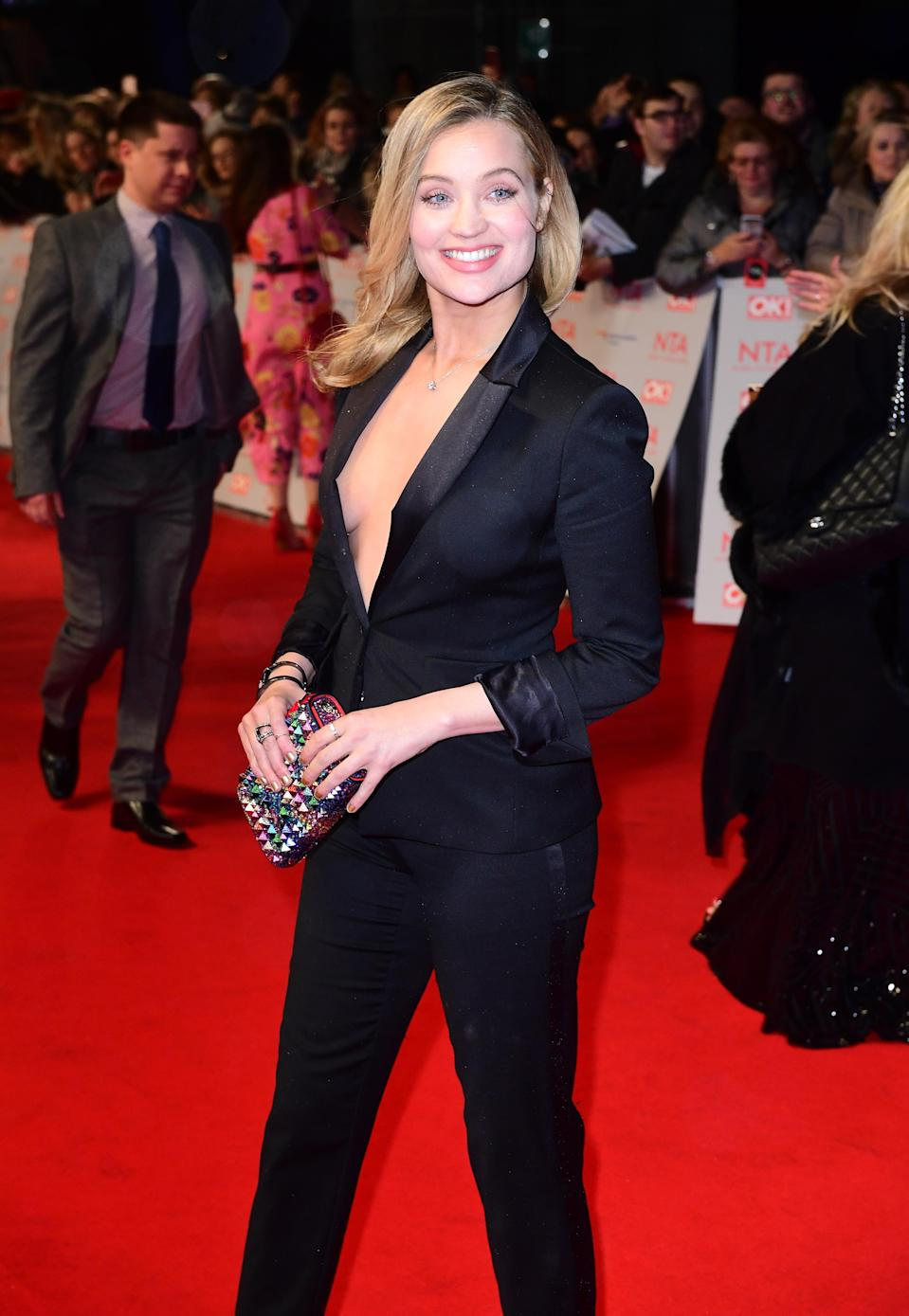 Laura Whitmore attending the National Television Awards 2018 held at the O2 Arena, London. (PA)