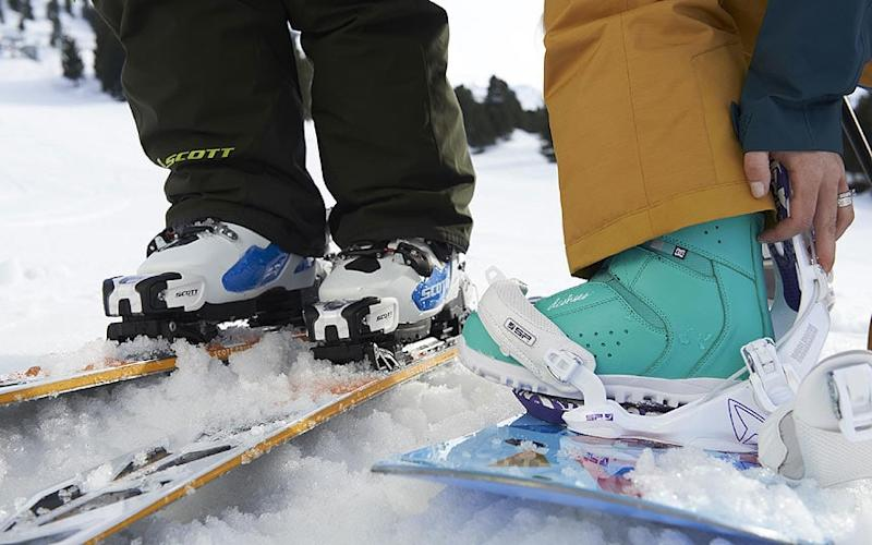 Snowboarders look for different qualities in their boots than skiers
