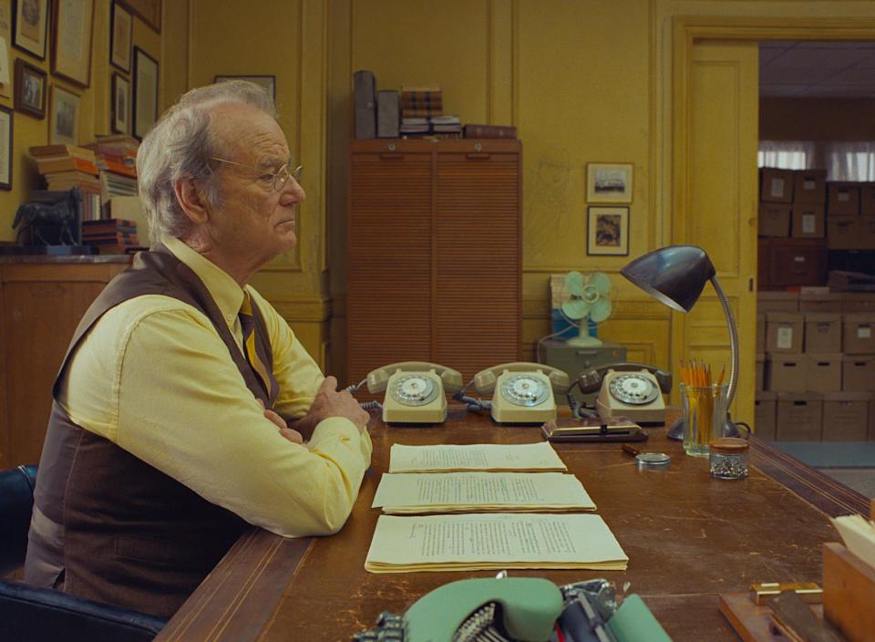 """Bill Murray plays a newspaper editor in Wes Anderson's ensemble film """"The French Dispatch."""""""