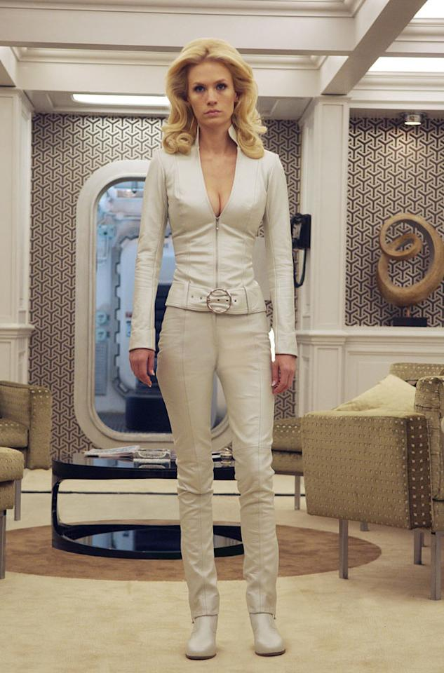 "<a href=""http://movies.yahoo.com/movie/contributor/1800355887"">JANUARY JONES</a>   Before landing the part of Emma Frost, January Jones was best known for playing the unhappy housewife Betty Draper in the AMC series ""Mad Men."" For that show, she was encouraged to not work out to keep her 1960s-era physique. Going straight from shooting ""Mad Men"" to ""X-Men,"" then, proved to be challenging.    ""I'm thinking, 'I'm supposed to be doing crunches on the plane,'"" Jones told the <a href=""http://herocomplex.latimes.com/2011/01/04/x-men-first-class-january-jones-copes-with-sexed-up-insane-costumes/"">Los Angeles Times</a>.   ""How am I gonna get buff in one day? I'm a petite person, so I didn't want to go into a strict workout and eating regime. I would have disappeared entirely, and she's very busty, very voluptuous, so I didn't want to get rid of any of my curves.""    The answer reportedly came in the form of raw juice. A lot of it."