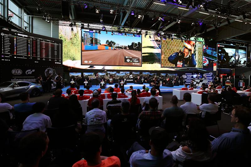 NUERBURG, GERMANY - JUNE 22: General view inside the arena during the Nations Cup Final during the Gran Turismo 2019 World Tour event at Nuerburgring on June 22, 2019 in Nuerburg, Germany. (Photo by Jack Thomas/Getty Images for Gran Turismo)