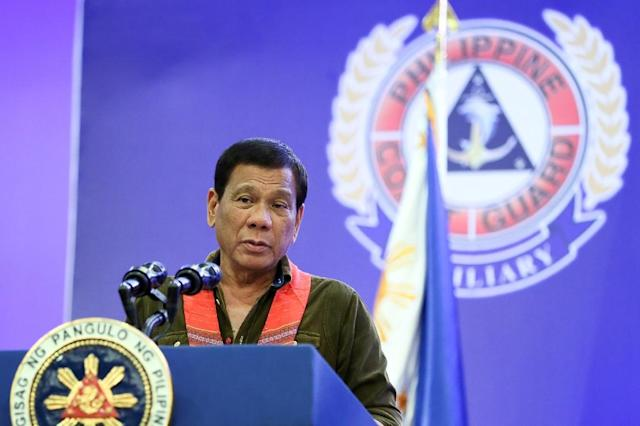 Philippine President Rodrigo Duterte said China's leaders threatened to go to war when he told them Manila planned to drill for oil in the disputed South China Sea (AFP Photo/Handout)