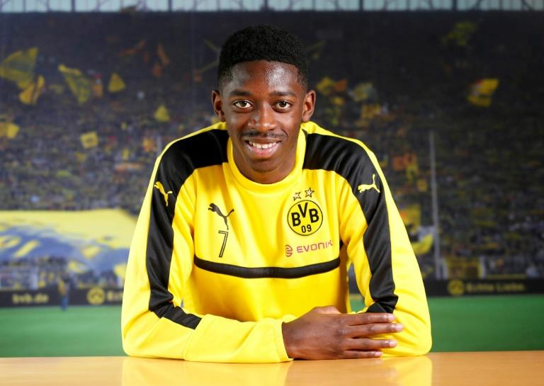 Dortmund's French midfielder Ousmane Dembele, seen during an interview with AFP at the teams training ground in Dortmund, on February 16, 2017