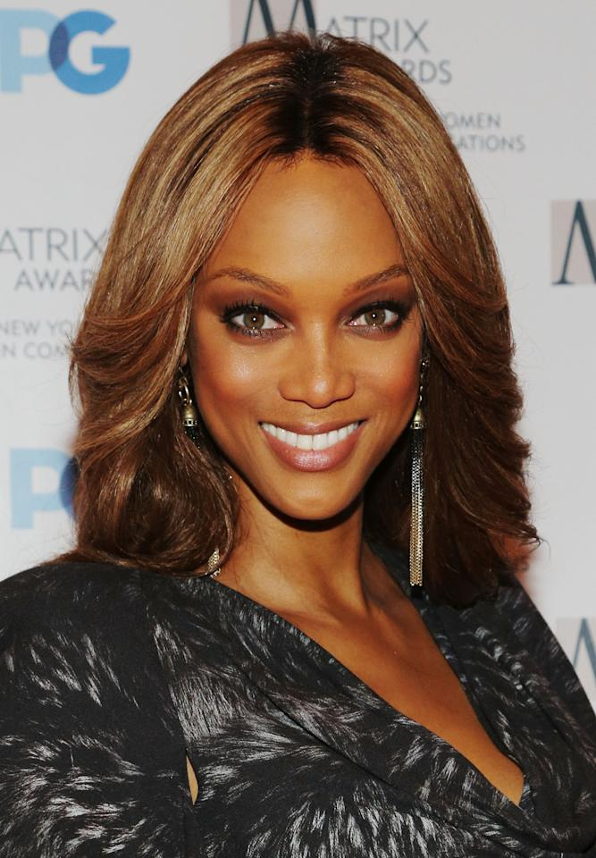 NEW YORK, NY - APRIL 23:  Tyra Banks attends the 2012 Matrix Awards Luncheon at Waldorf Astoria Hotel on April 23, 2012 in New York City.  (Photo by Astrid Stawiarz/Getty Images)