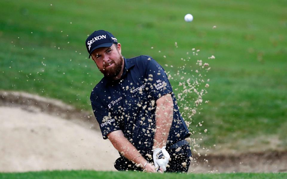 Ireland's Shane Lowry plays out of a bunker during the second round - Reuters
