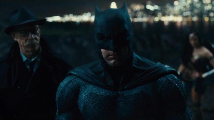 Affleck's Batman, with JK Simmons and Gal Gadot, in the upcoming 'Justice League' (credit: Warner Bros)