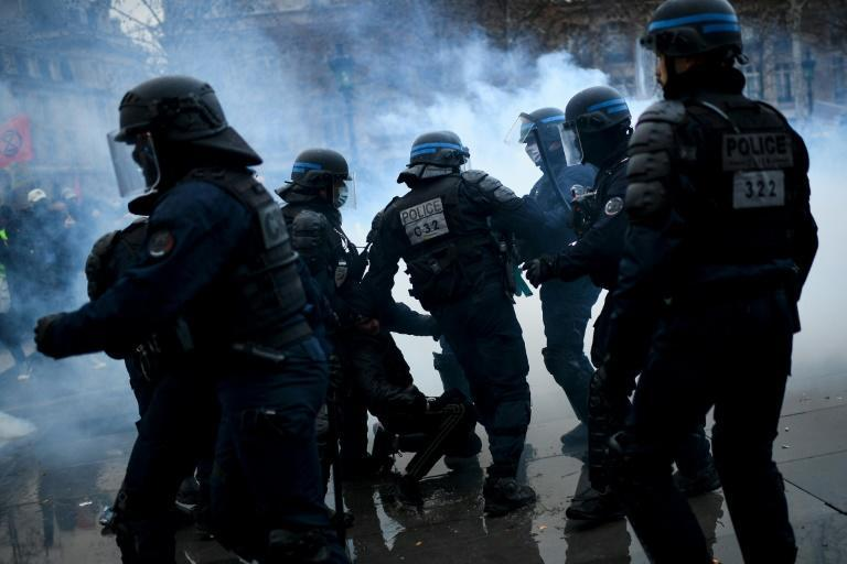 Police and protesters clashed at some of the demos