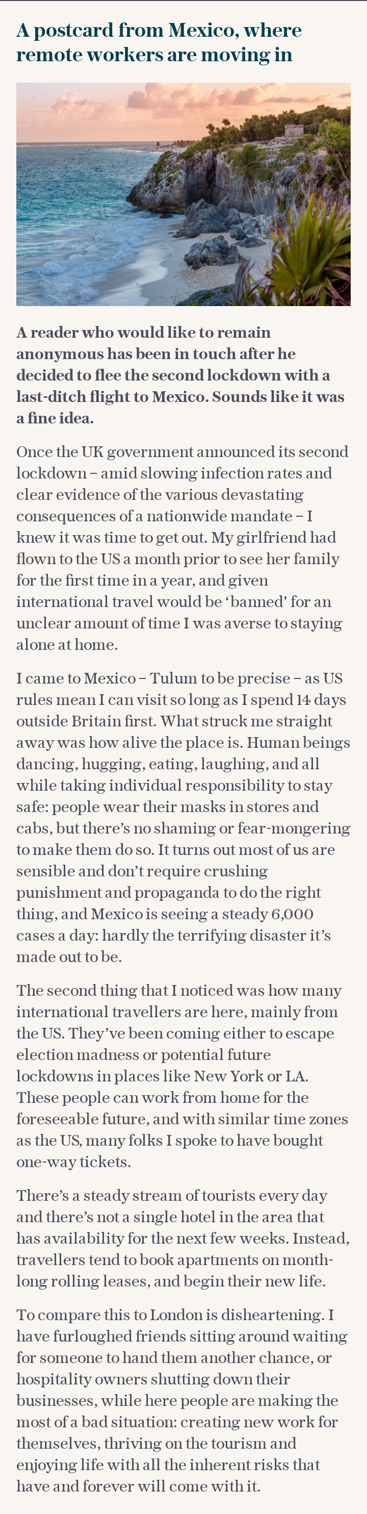 A postcard from Mexico, where remote workers are moving in