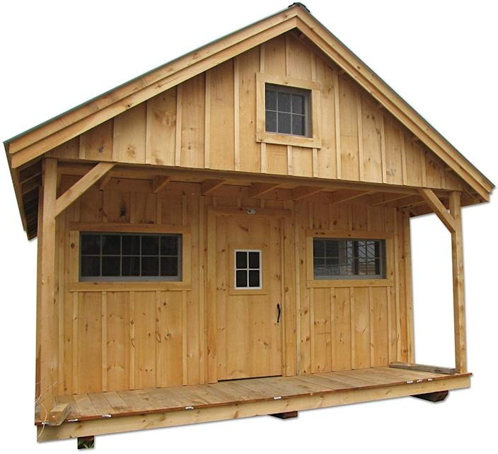 The Pre-Cut Timber Frame Vermont Cottage from Jamaican Cottage Shop.