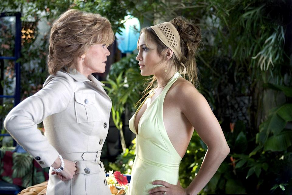 "<p>Is there anything more comforting than a Jennifer Lopez movie? You just know you're in good hands when this performer is top billed. In <em>Monster-in-Law</em> she plays a woman whose future MIL (Jane Fonda) is, well, a nightmare. OK, so maybe the plot is a bit far-fetched—after all, who wouldn't want J.Lo as a family member?</p> <p><a href=""https://www.netflix.com/title/70021634"" rel=""nofollow noopener"" target=""_blank"" data-ylk=""slk:Available to stream on Netflix."" class=""link rapid-noclick-resp""><em>Available to stream on Netflix.</em></a></p>"