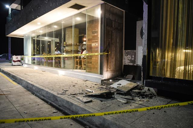 <p>Damage caused an earthquake is seen in the Port of Veracruz on September 7, 2017. (Victoria Razo/AFP/Getty Images) </p>