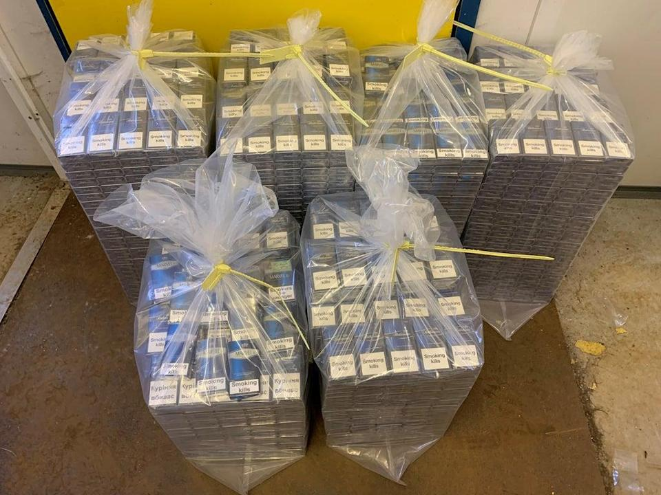 Some of the cigarettes seized as part of Operation CeCe (National Trading Standards/PA)