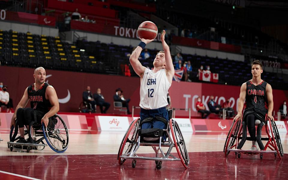 Gregg Warburton shoots for GB against Canada - PA
