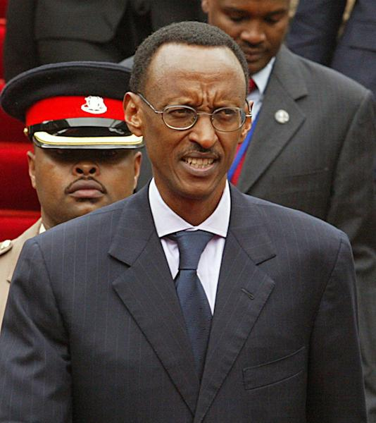 FILE - In this May 22, 2007 file photo, Rwandan president Paul Kagame looks on during the COMESA conference in Nairobi, Kenya. Rwanda's next presidential election is still four years away, but a movement is growing there for term limits to be removed so that Kagame can still be in charge of the country after 2017, when his current term expires. Rwanda's constitution provides for two, seven-year presidential terms. (AP Photo/Sayyid Azim, File)