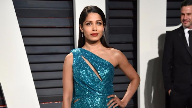 Freida Pinto Helps Feed 800 People With Surplus Food From Oscars