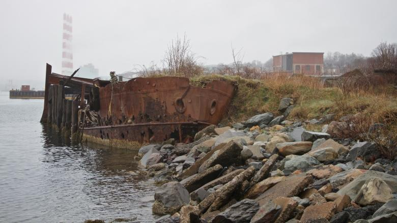 What is this mystery ship in Halifax Harbour?