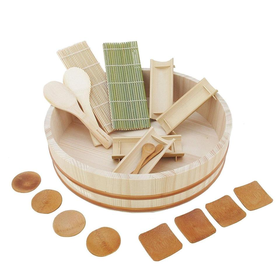 <p>This <span>Natural Sushi Making Kit</span> ($57) comes with 19 pieces of equipment, meaning making sushi at home will be a breeze.</p>