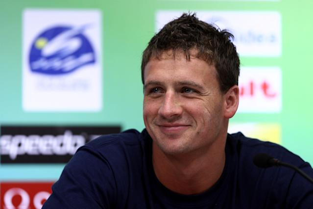 SHANGHAI, CHINA - JULY 23: Ryan Lochte of the United States participates in a press conference on Day Eight of the 14th FINA World Championships at the Main Press Center of the Oriental Sports Center on July 23, 2011 in Shanghai, China. (Photo by Feng Li/Getty Images)